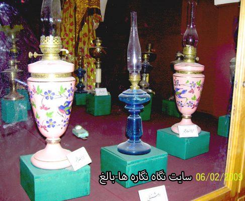 چراغ های فتیله ای نفت سوز ، در موزه مردم شناسی  بناب  :  Sahand Ethnological Museum of Bonab